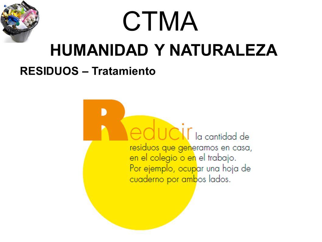 CTMA HUMANIDAD Y NATURALEZA RESIDUOS – Tratamiento
