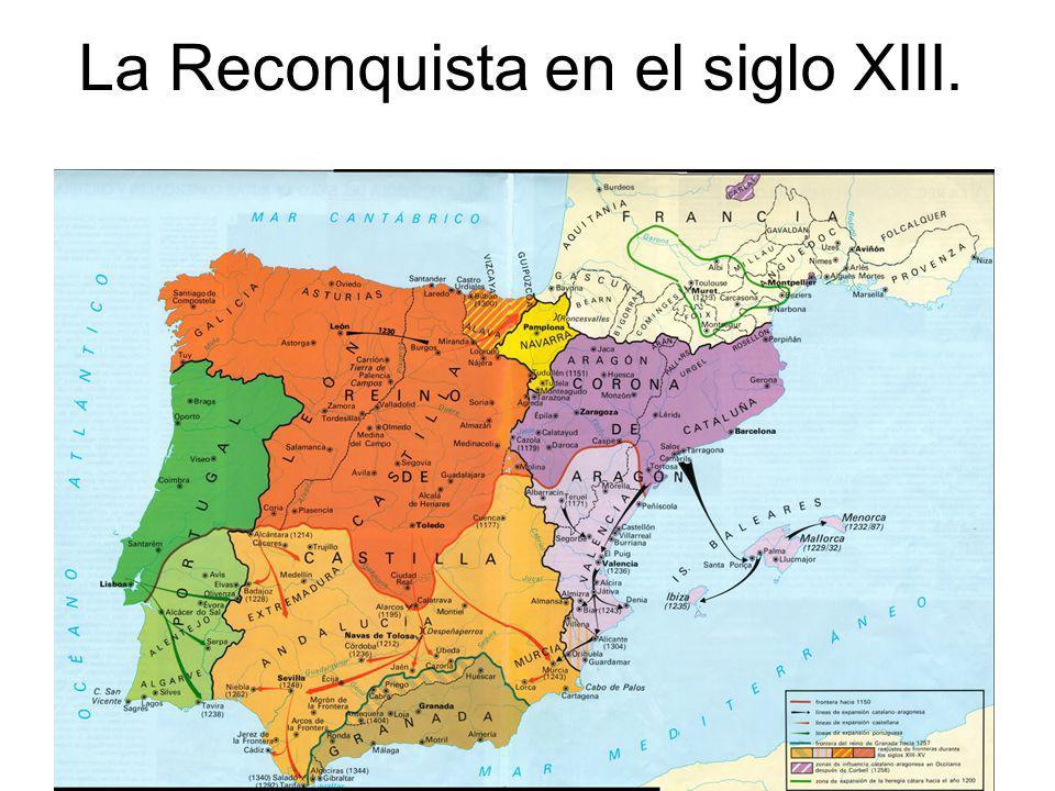 La Reconquista en el siglo XIII.