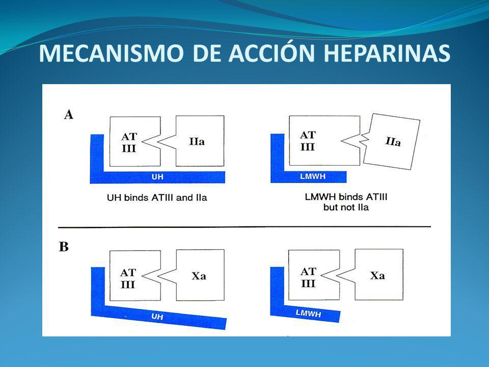 MECANISMO DE ACCIÓN HEPARINAS