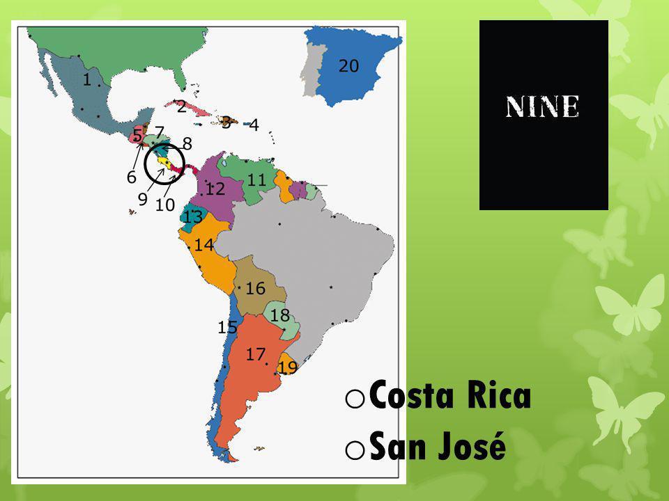 o Costa Rica o San José