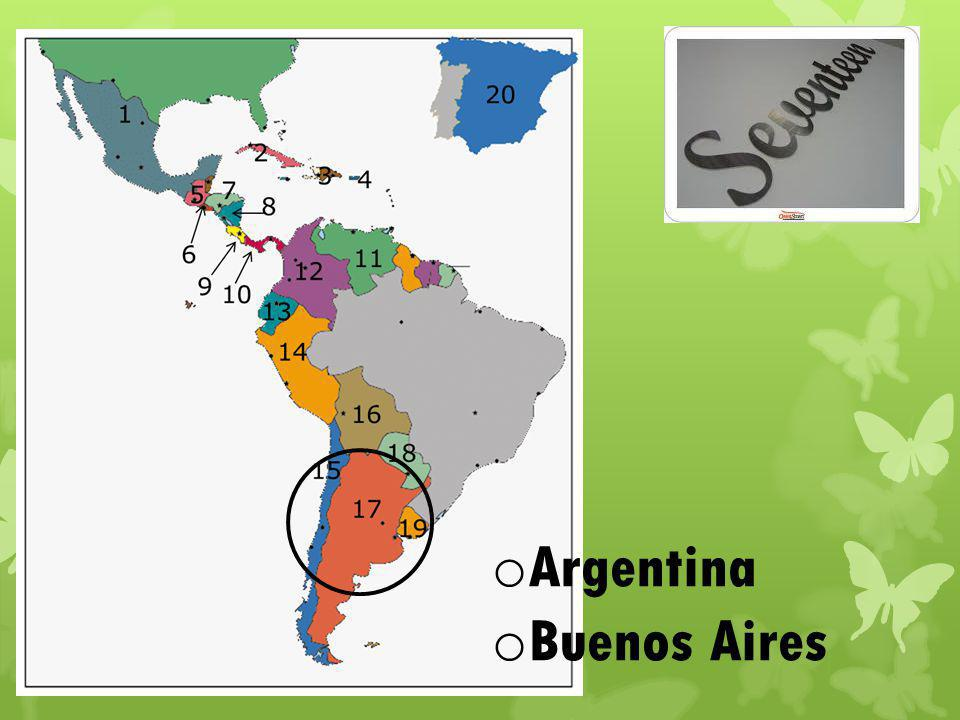 o Argentina o Buenos Aires
