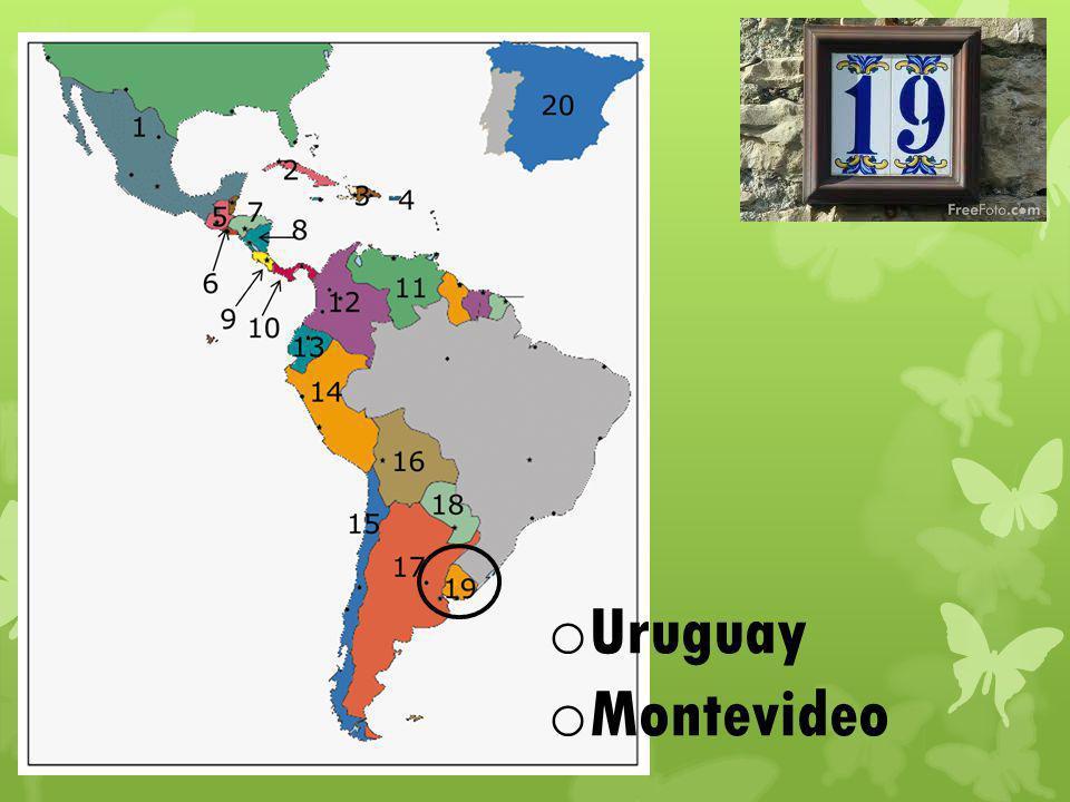o Uruguay o Montevideo