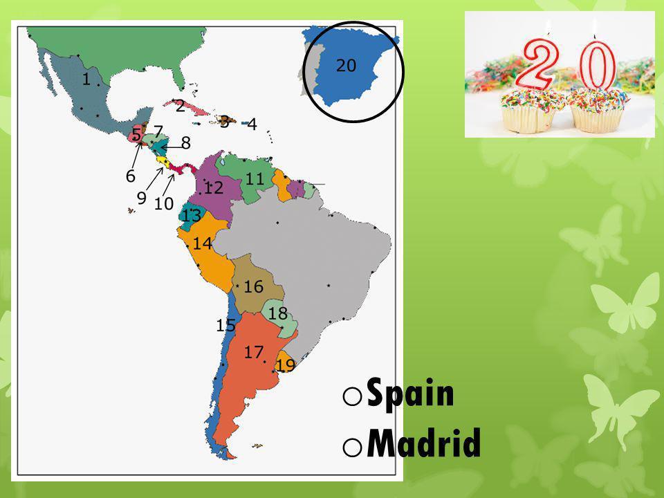 o Spain o Madrid