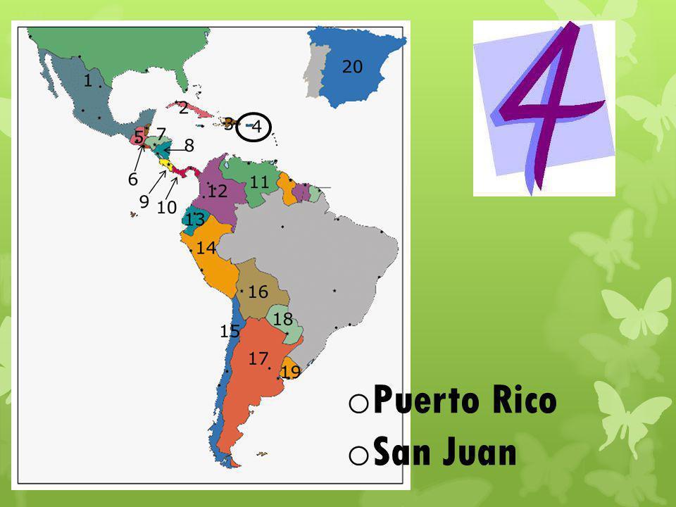 o Puerto Rico o San Juan
