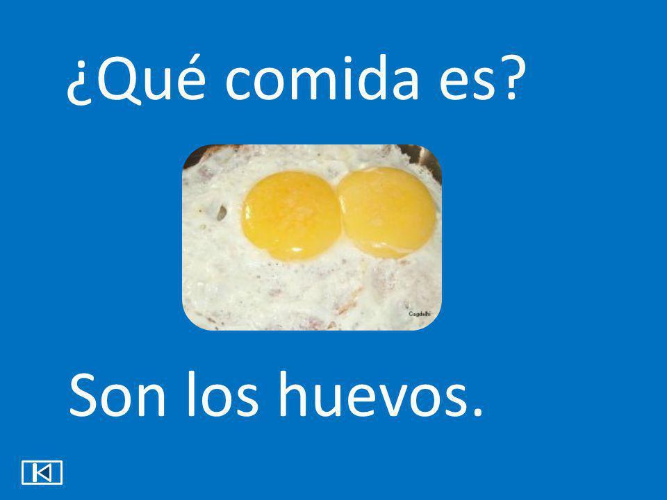 ¿Qué comida es? Son los huevos.