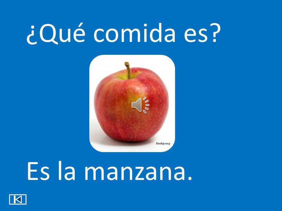 ¿Qué comida es? Es la manzana.