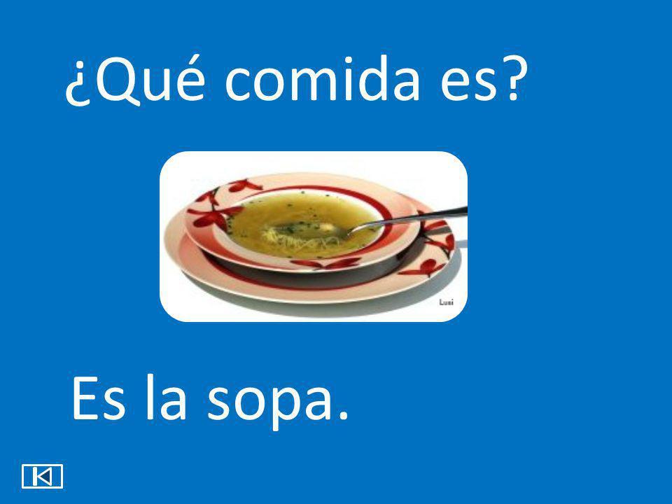 ¿Qué comida es? Es la sopa.
