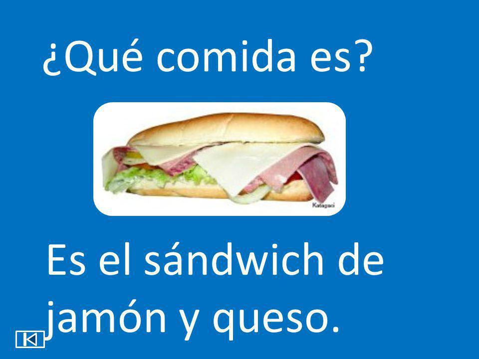 ¿Qué comida es? Es el sándwich de jamón y queso.