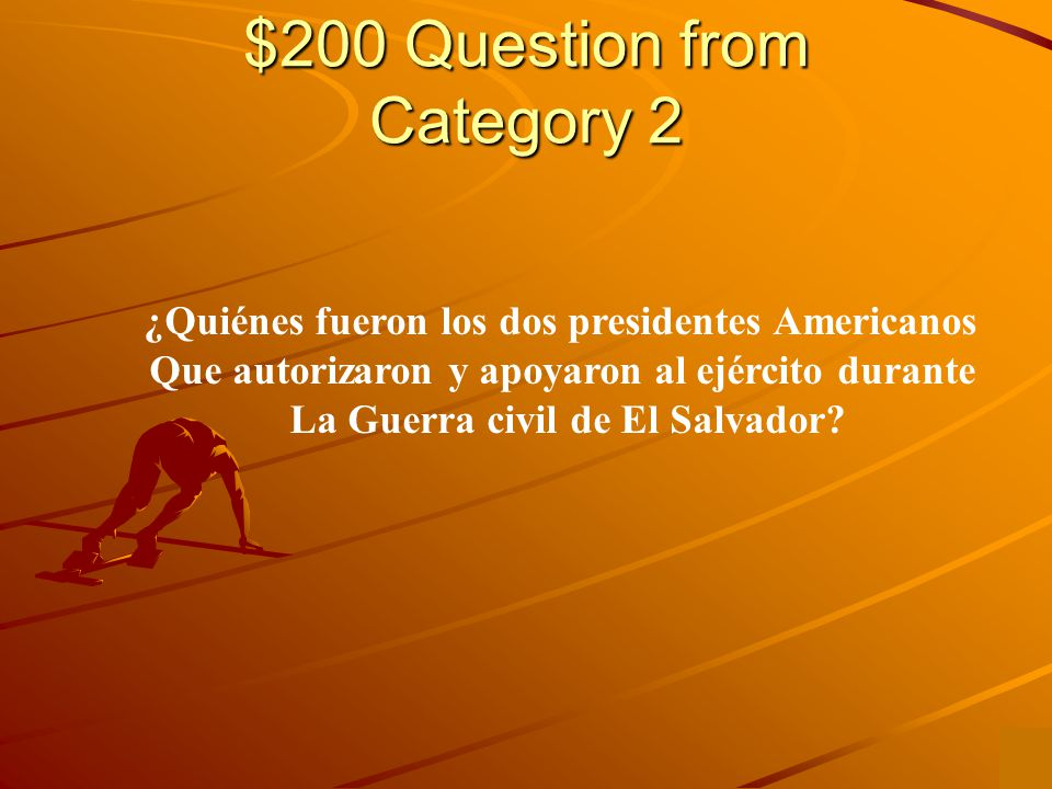 $100 Answer from Category 2 James Monroe