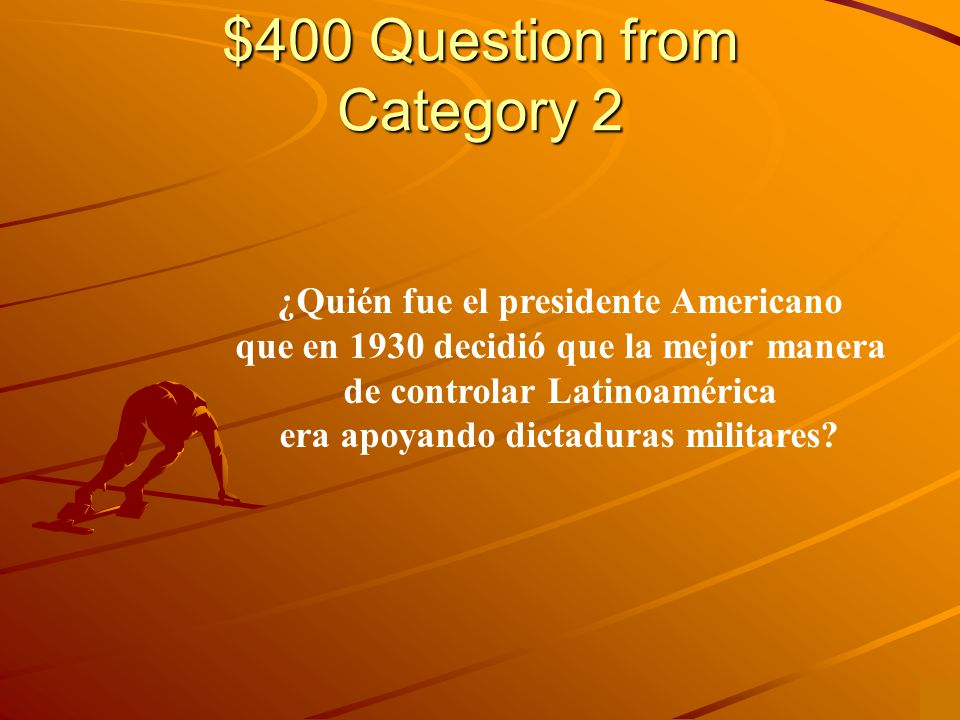$300 Answer from Category 2 Presidente Eisenhower