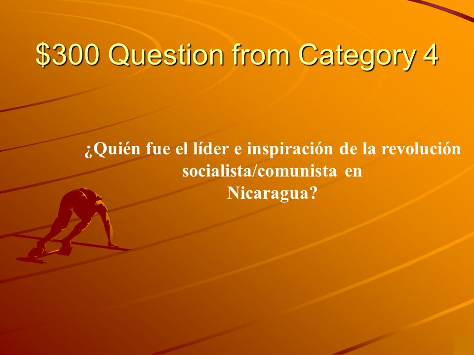 $200 Answer from Category 4 Salvador Allende