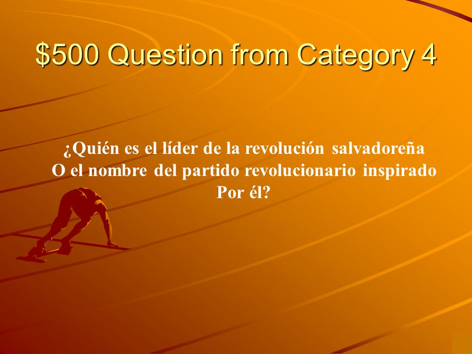 $400 Answer from Category 4 Ernesto Guevara de la Serna