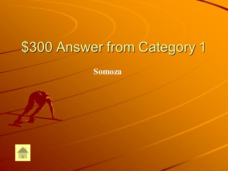 $300 Answer from Category 2 Presidente Eisenhower