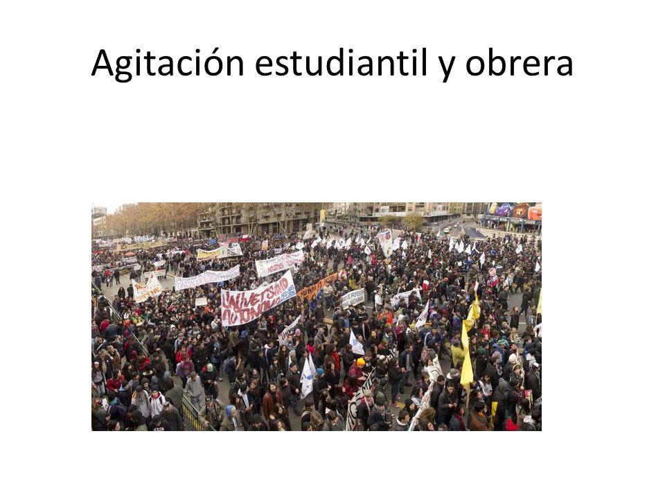 Agitación estudiantil y obrera