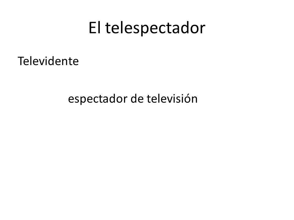 El telespectador Televidente espectador de televisión
