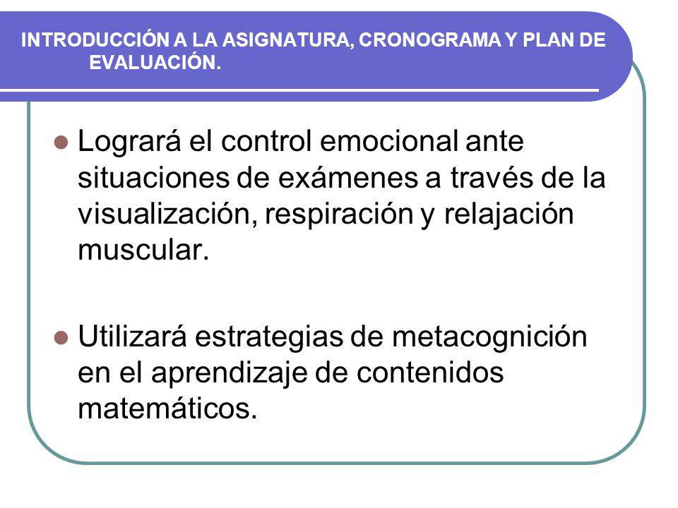 CONTENIDOS DEL CURSO - Introducción al curso.- Geometría y funciones.