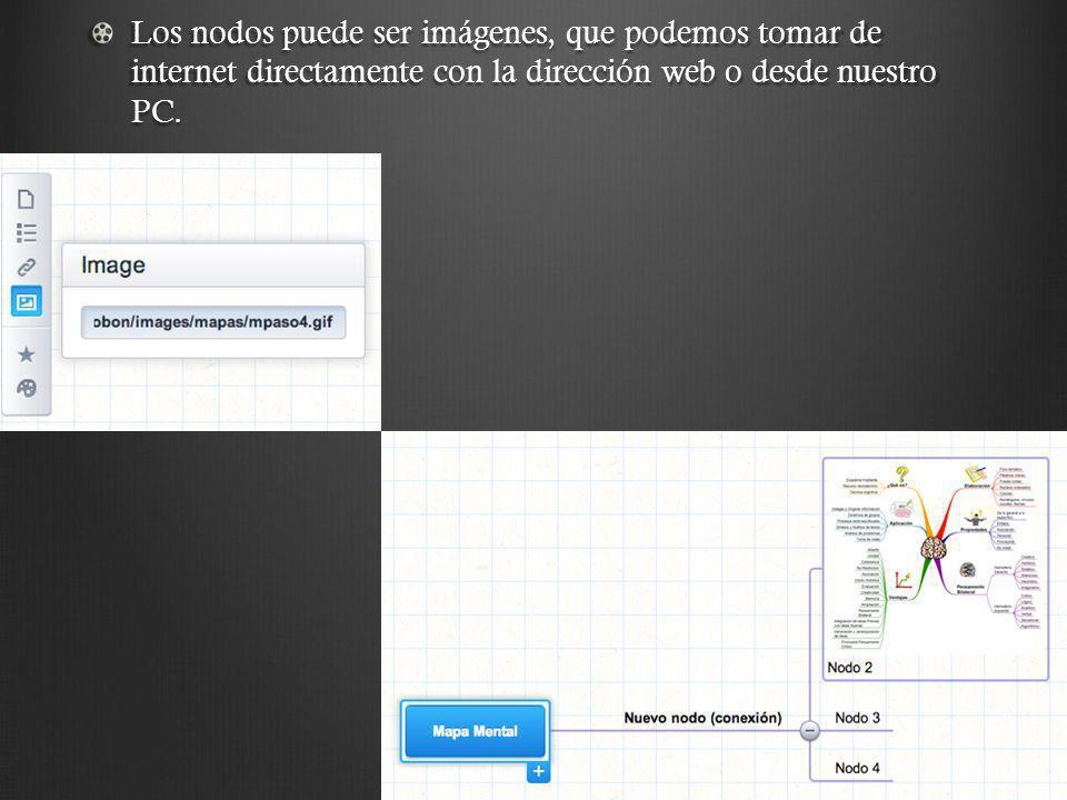 En los nodos también podemos usar la herramienta Notas, estas pueden ser texto, luego de agregarla con el cursor sobre la nota veremos la nota