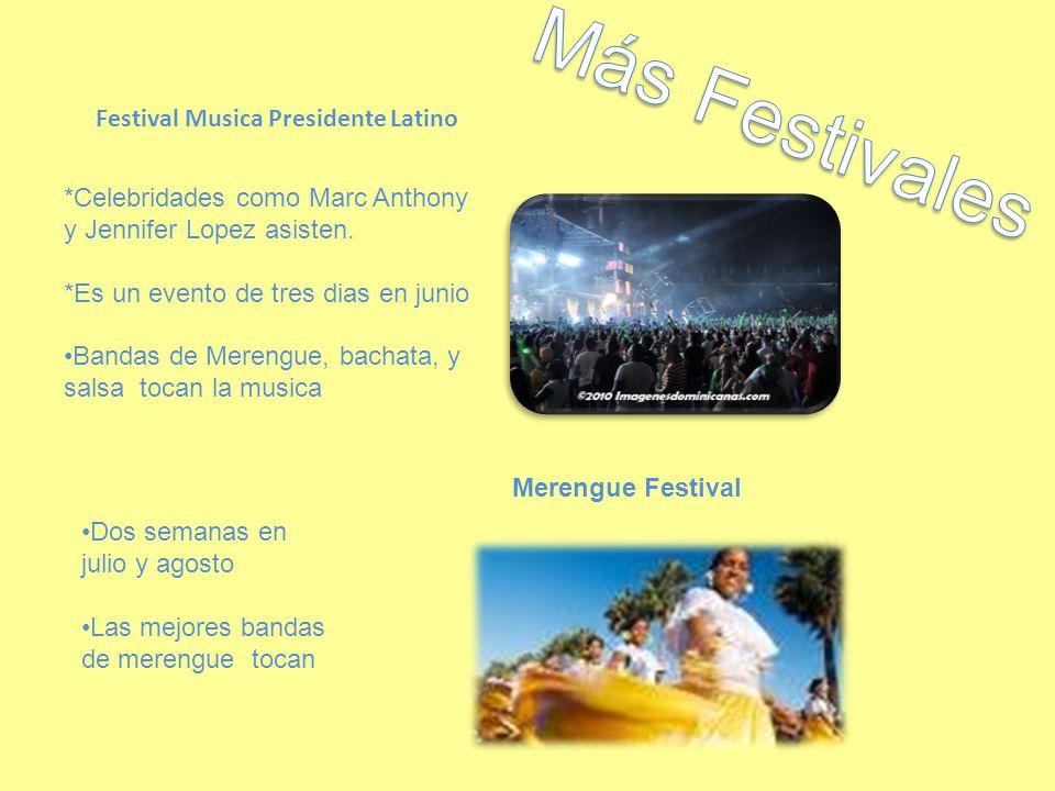 Festival Musica Presidente Latino *Celebridades como Marc Anthony y Jennifer Lopez asisten.