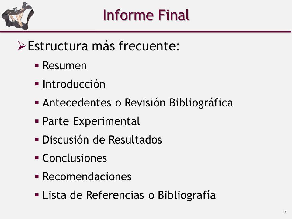 Fases de la investigación científica.  Informe Final ...