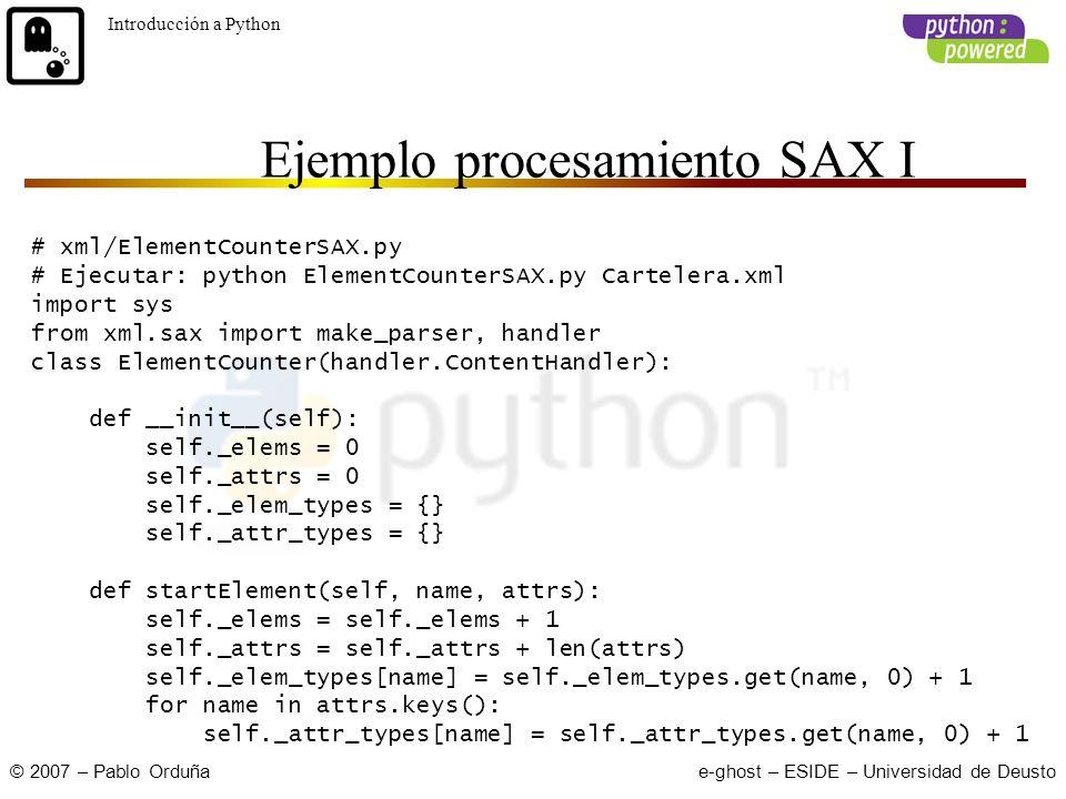 Pablo Orduña Cursillos Julio 2007 e-ghost Introducción a Python This ...