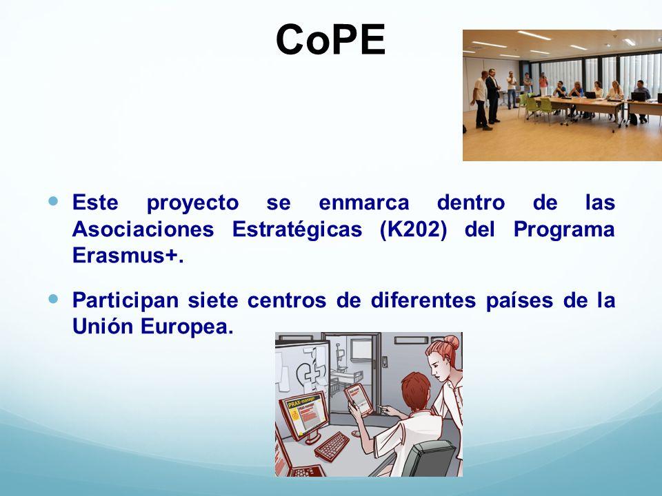 CoPE Este proyecto se enmarca dentro de las Asociaciones Estratégicas (K202) del Programa Erasmus+.