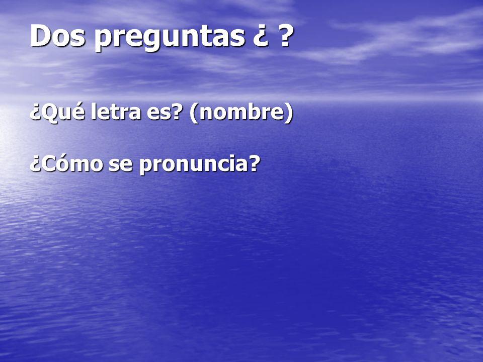 Alfabeto Las letras Vocales= a,e,i,o,u Consonantes= b,c,d,f Los nombres de las letras La pronunciación de las letras