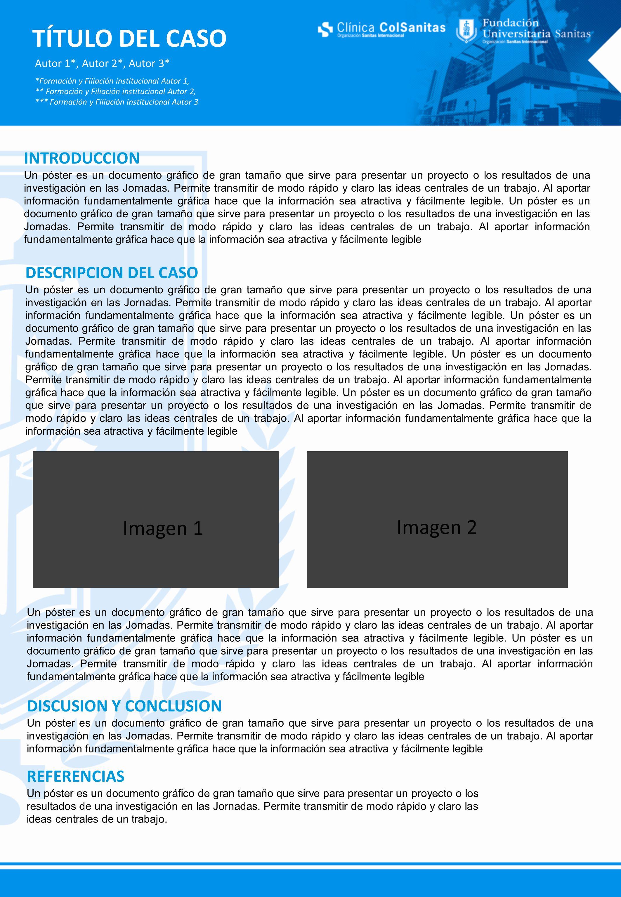 TÍTULO DEL CASO Autor 1*, Autor 2*, Autor 3* *Formación y ...