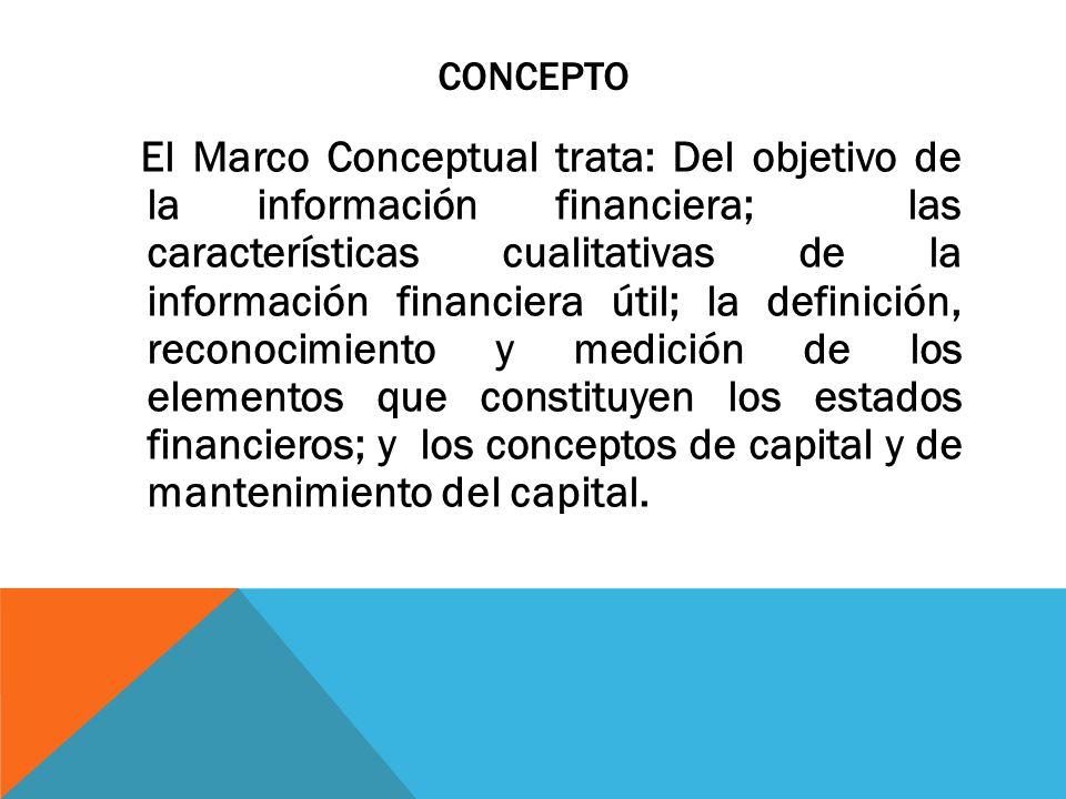 NORMA INTERNACIONAL DE INFORMACIÓN FINANCIERA MARCO CONCEPTUAL ...
