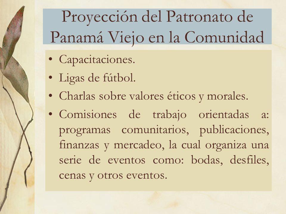 Proyección del Patronato de Panamá Viejo en la Comunidad Capacitaciones.