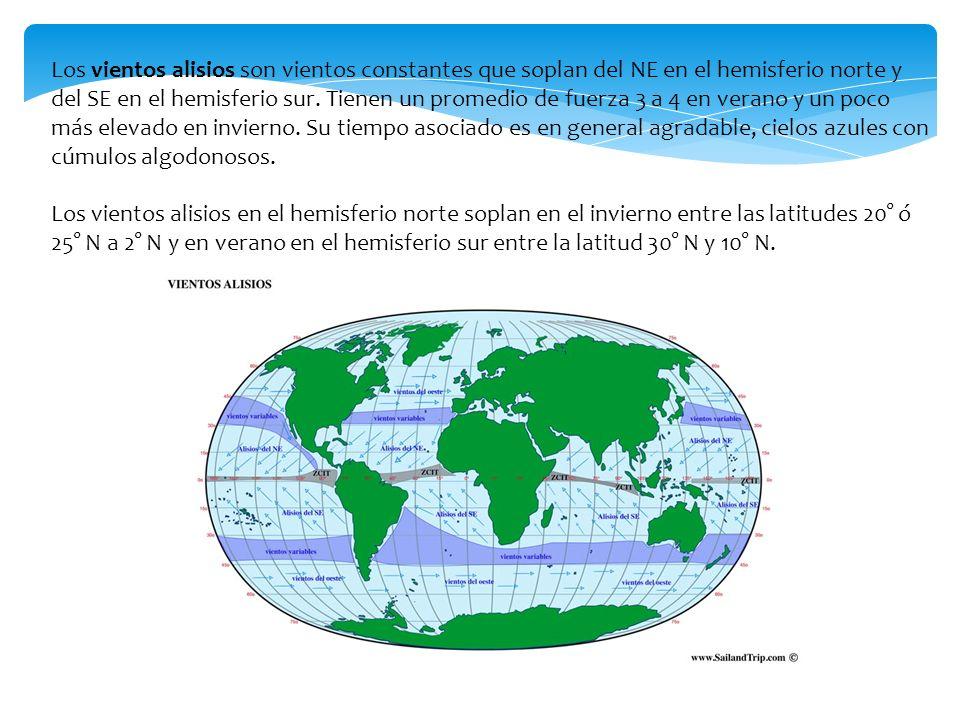Los Vientos Alisios Son Constantes Que Soplan Del NE En El Hemisferio Norte Y
