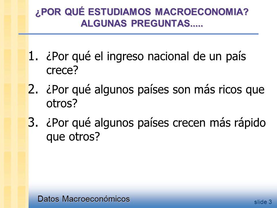 Datos Macroeconómicos slide 3 ¿POR QUÉ ESTUDIAMOS MACROECONOMIA.