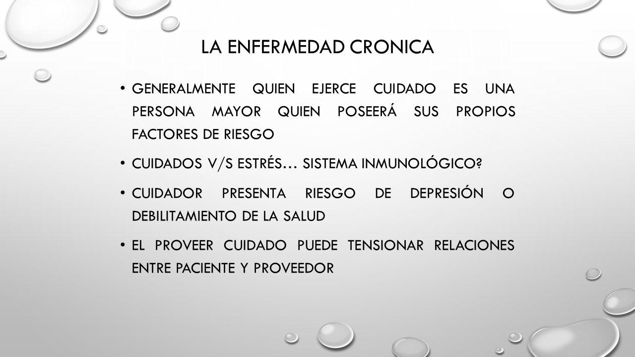 ENFERMEDAD CRÓNICA CLAUDIA BADILLA DONOSO PSICÓLOGA UNIVERSIDAD ...