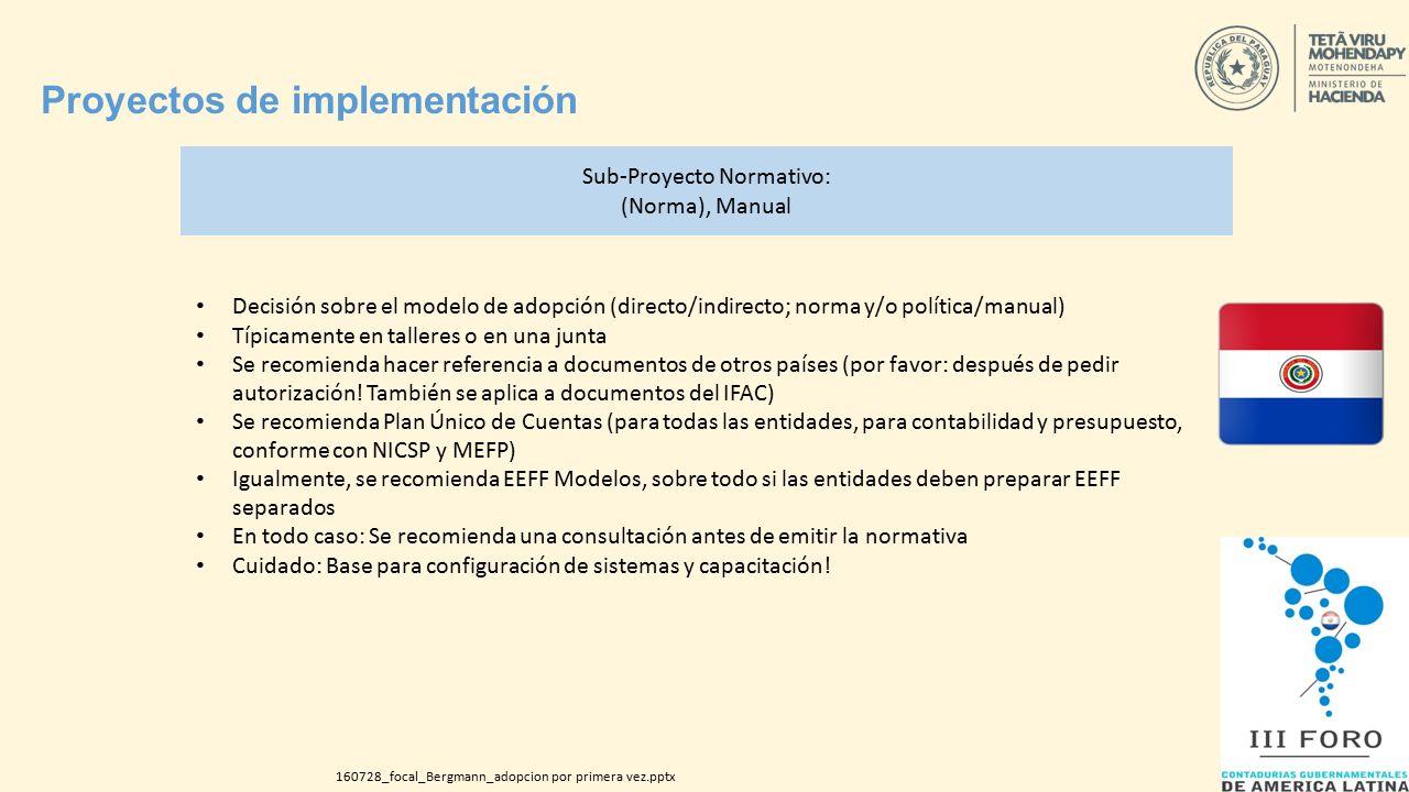 NICSP 33 Implementación por primera vez, experiencias exitosas Dr ...