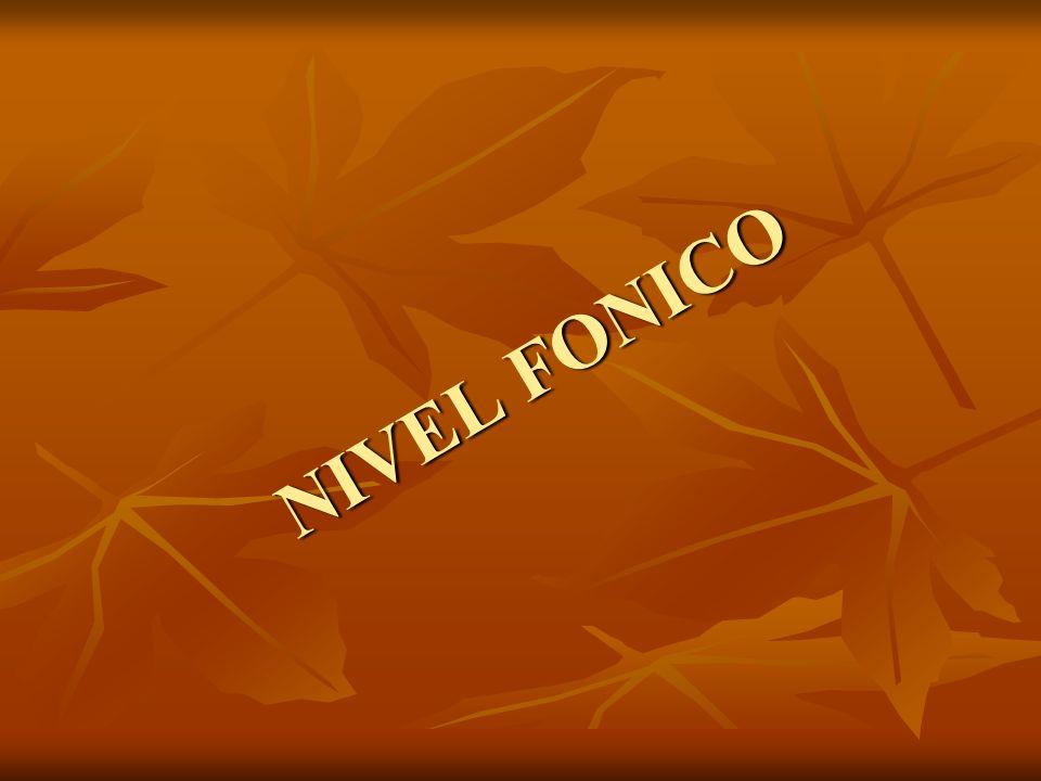 NIVEL FONICO