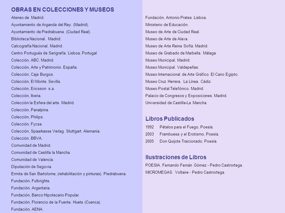 OBRAS EN COLECCIONES Y MUSEOS Ateneo de Madrid. Ayuntamiento de Arganda del Rey.