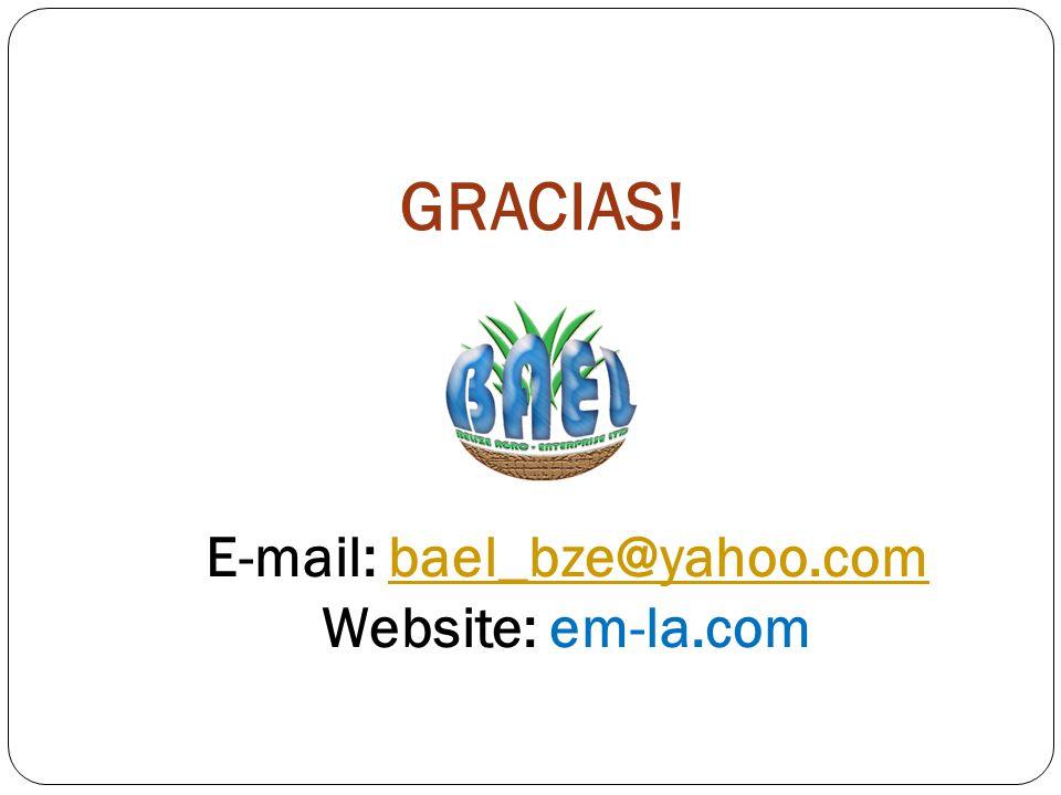 GRACIAS! E-mail: bael_bze@yahoo.combael_bze@yahoo.com Website: em-la.com