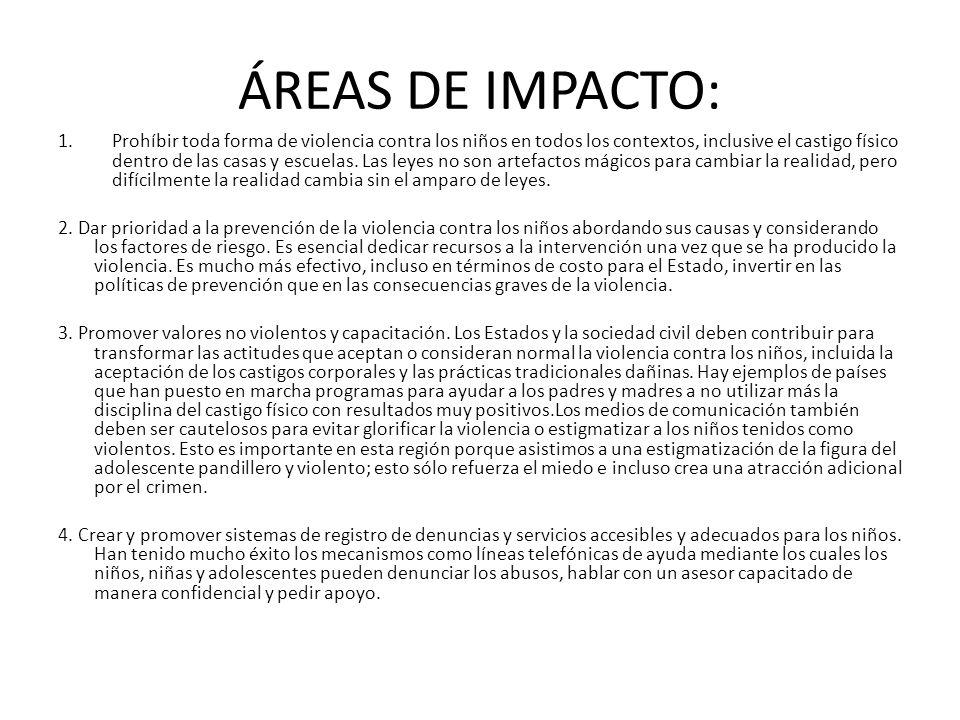 ÁREAS DE IMPACTO 5.