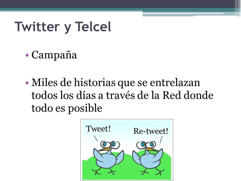 Twitter y Telcel Campaña Miles de historias que se entrelazan todos los días a través de la Red donde todo es posible