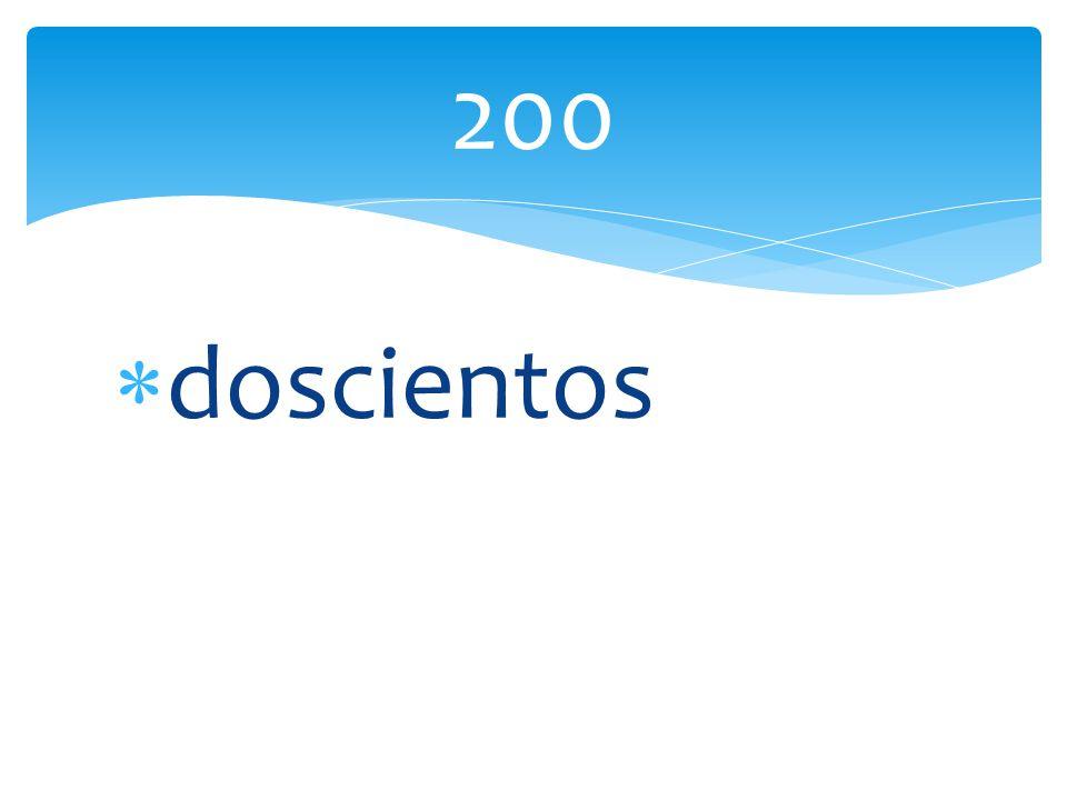 doscientos 200