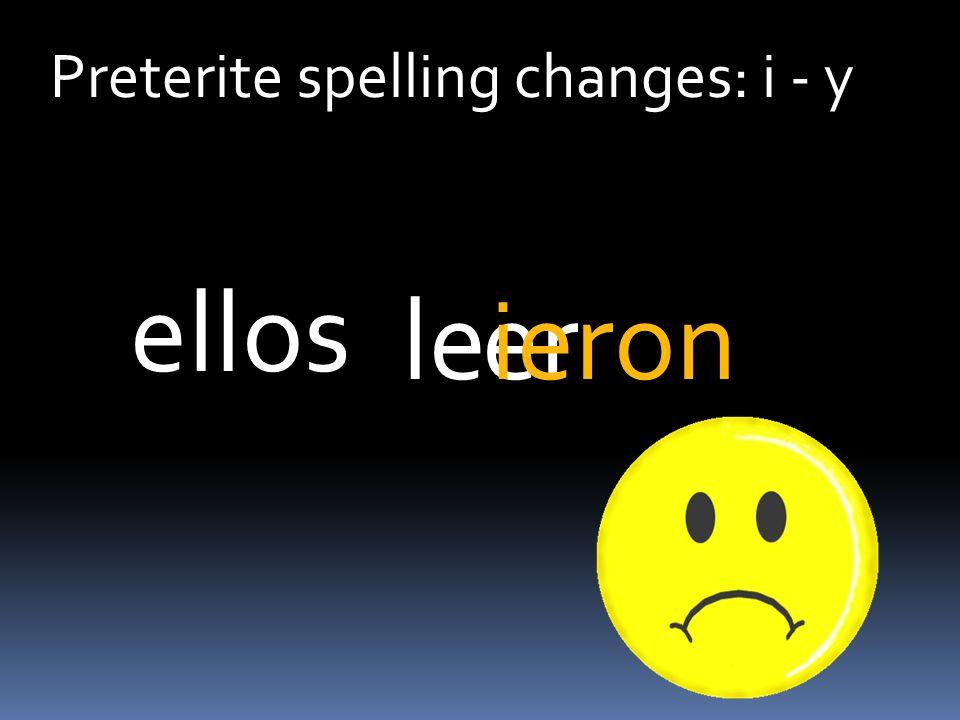 Preterite spelling changes: i - y erleieron ellos