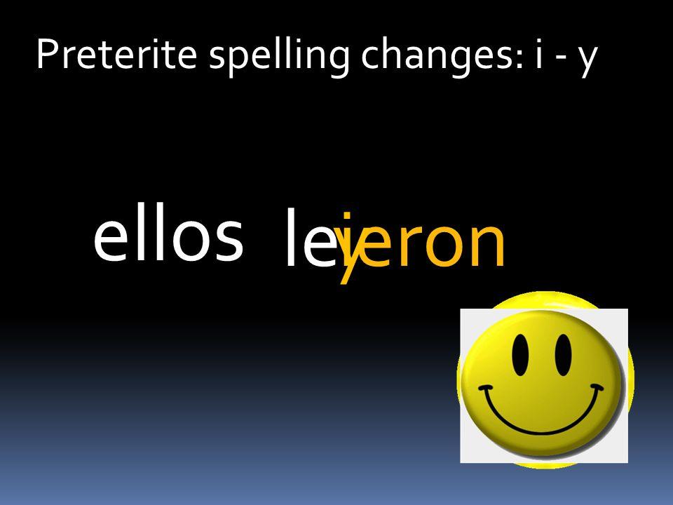 Preterite spelling changes: i - y leeron ellos iy