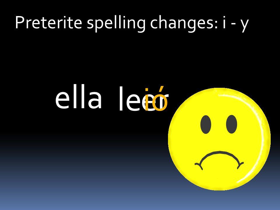 Preterite spelling changes: i - y erleió ella