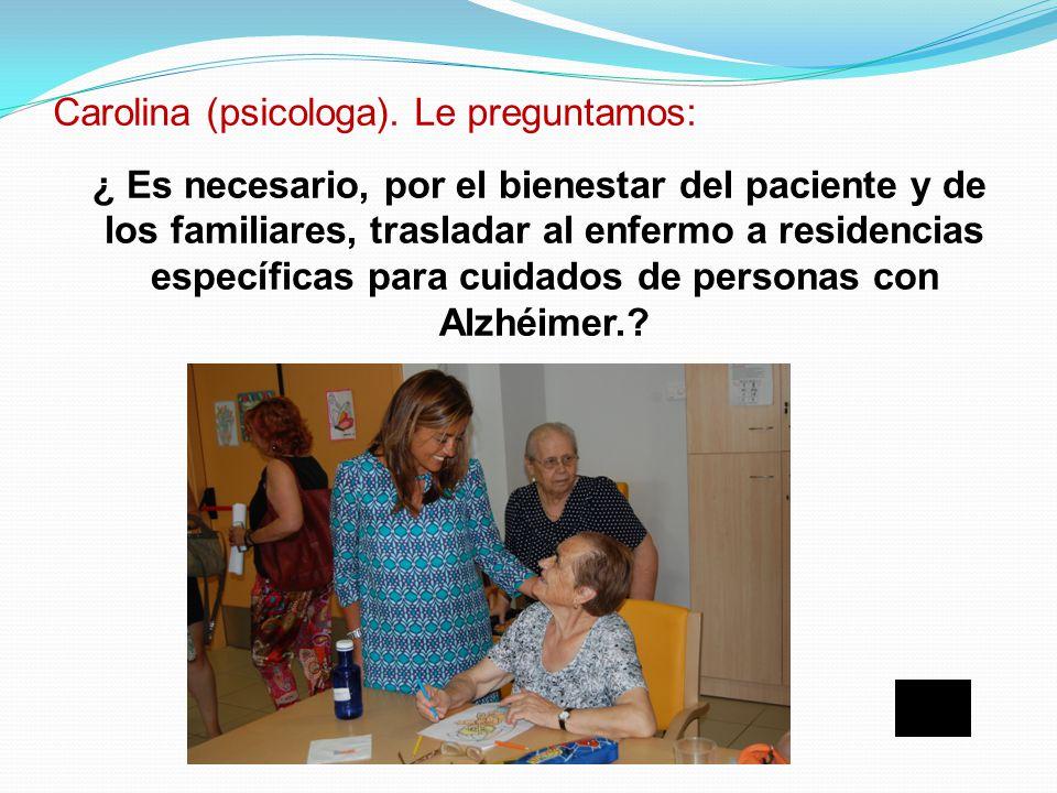 Según la Federación Madrileña de Alzhéimer El 80% de los enfermos con Alzheimer están en sus casas ante la escasez de recursos publicos: ¿ Se encuentr