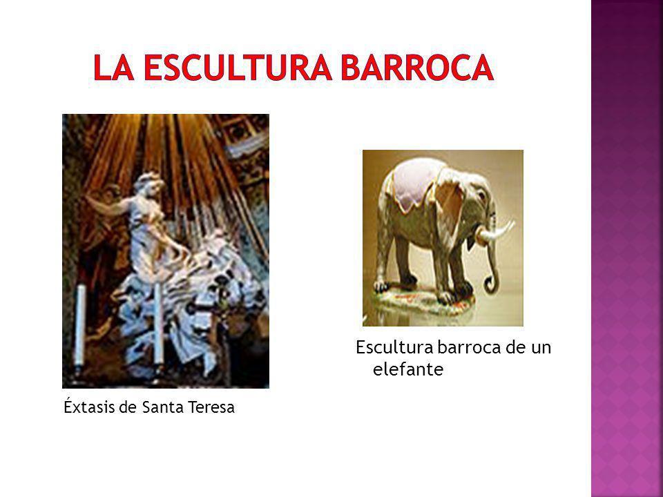 Escultura barroca de un elefante Éxtasis de Santa Teresa