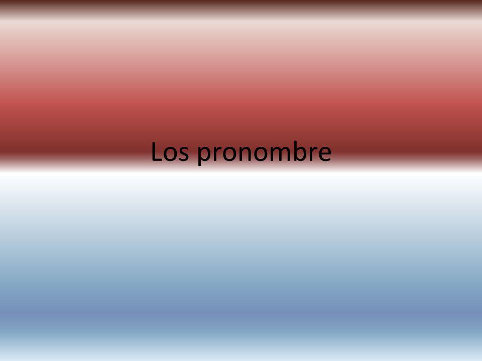 Los pronombre