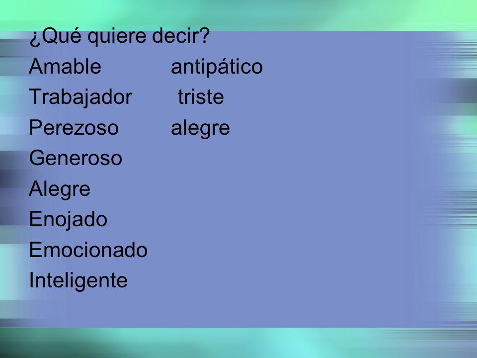 Change the verb (tener) to the correct form Ella (tener) una familia pequeña.