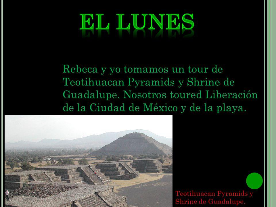 Rebeca y yo tomamos un tour de Teotihuacan Pyramids y Shrine de Guadalupe.