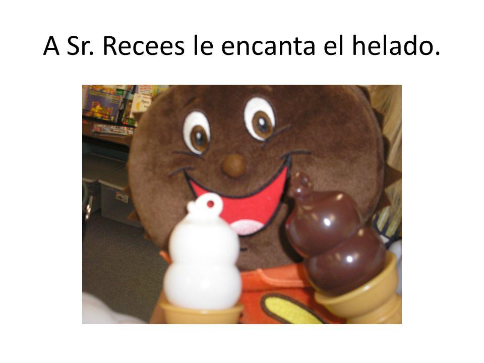 A Sr. Recees le encanta el helado.
