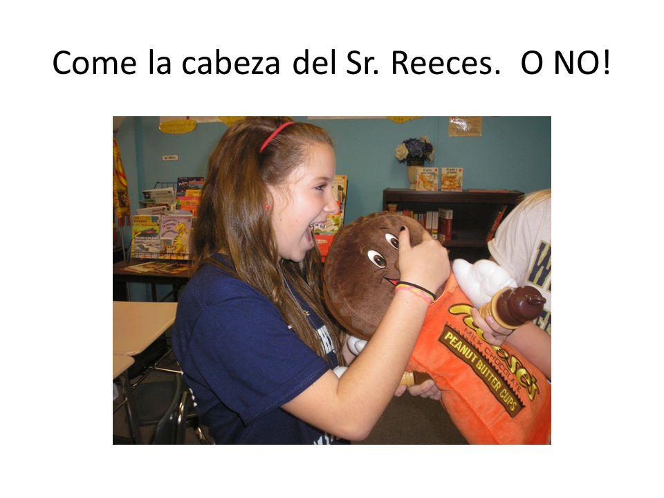 Ya no tiene una cabeza porque a Emma le encantan los Reeces.