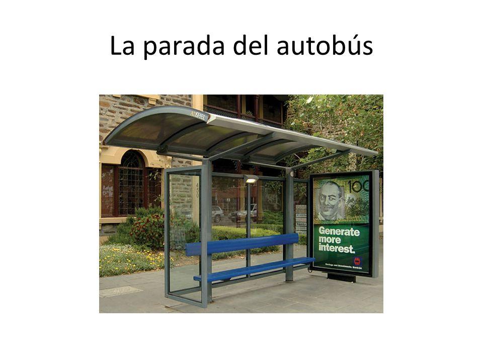 La parada del autobús